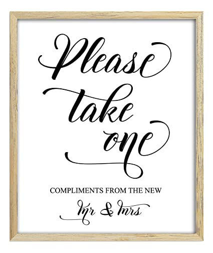Amazon Please Take One Sign Wedding Favors Sign Party Print