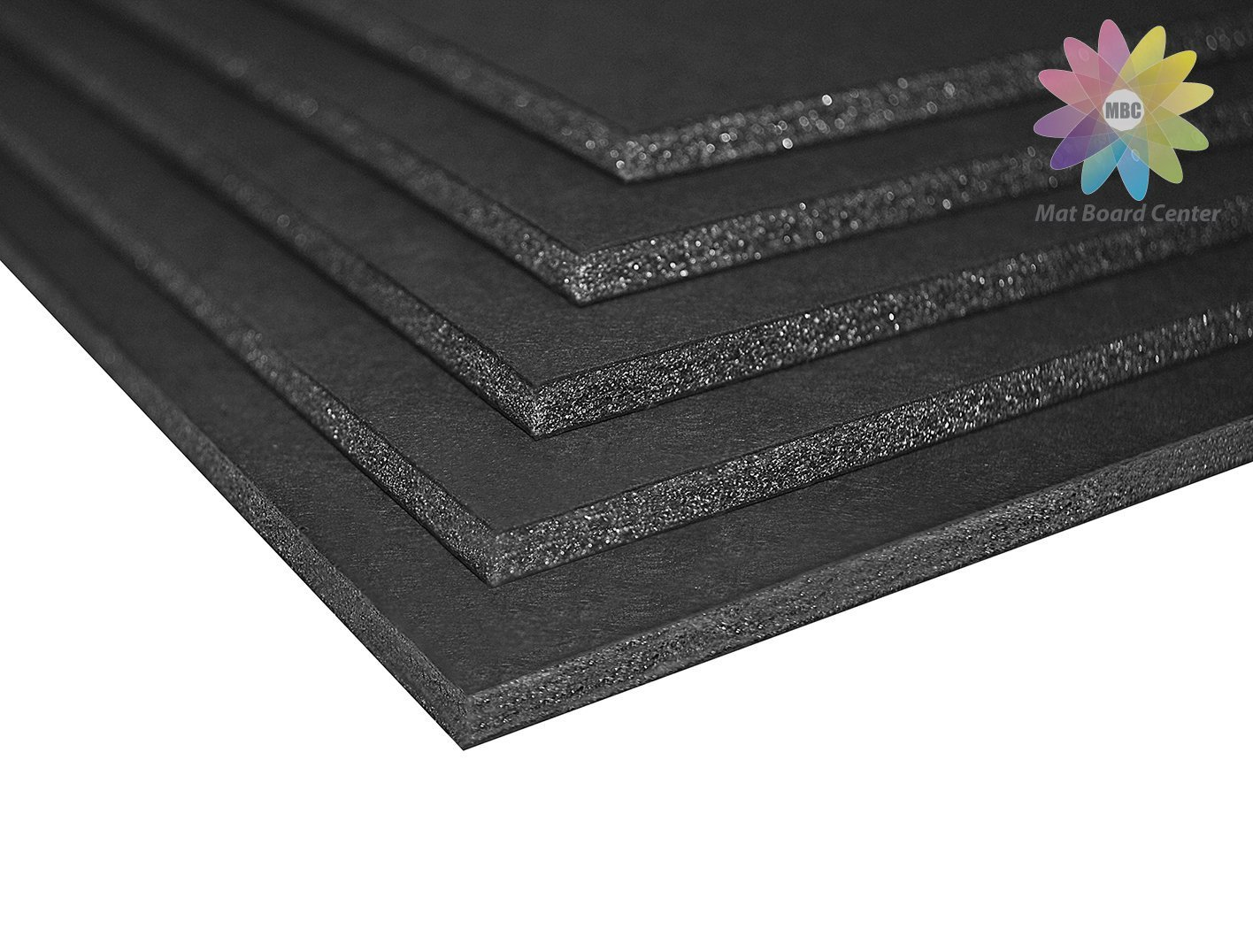 Mat Board Center, Pack of 25 Foam Core Backing Boards 3/16'' (16x20, Black) by MBC MAT BOARD CENTER (Image #2)
