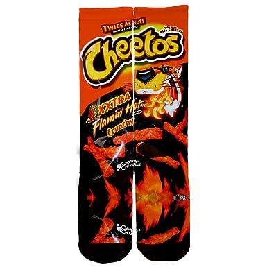 Flamin Hot Cheetos Custom Socks One Size 6 12 Multi At Amazon Mens