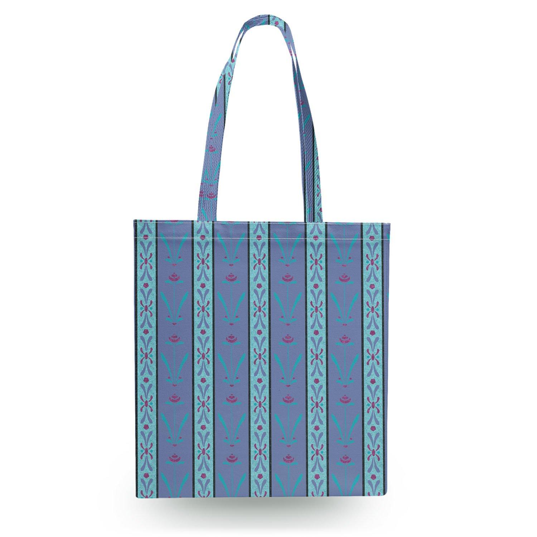 Zipper Canvas Tote Bag Ice Queen Elsa Canvas Tote Bag