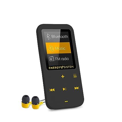 Energy Sistem Touch Amber - Reproductor MP4 con tecnología Bluetooth (16 GB, auriculares intrauditivos