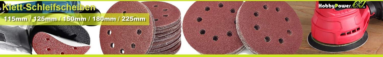 30x Klettscheiben /Ø 180mm ohne Loch K/örnung 120 Klett Schleifpapier Exzenterschleifer Schleifscheiben Klettschleifscheiben Klettbefestigung ungelocht Exzenter