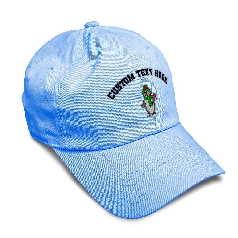 Custom Soft Baseball Cap Christmas Penguin Embroidery Dad Hats for Men /& Women
