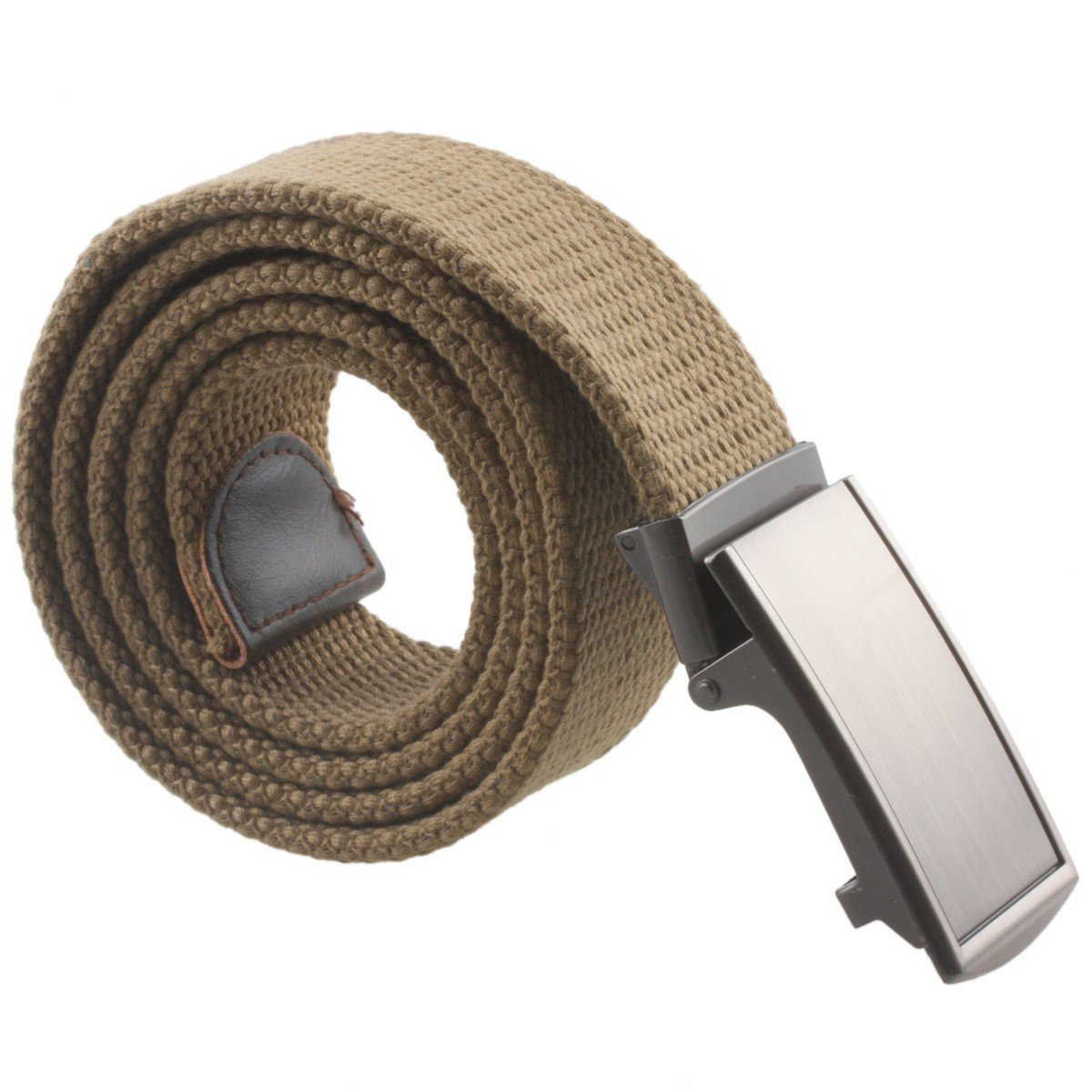 Sportmusies Canvas Web Belts for Men,Solid Color Military Style Casual Golf Belts with Automatic Buckle