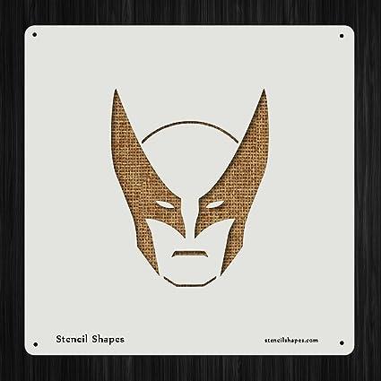 Superheroes Super Hero Mask, Style 6380 DIY Plastic Stencil Acrylic Mylar Reusable