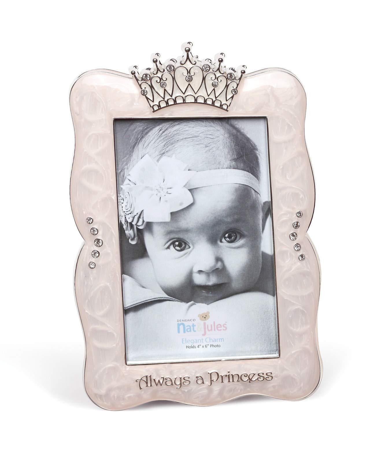 DEMDACO Crown Photo Frame, Always A Princess, 4''x6''
