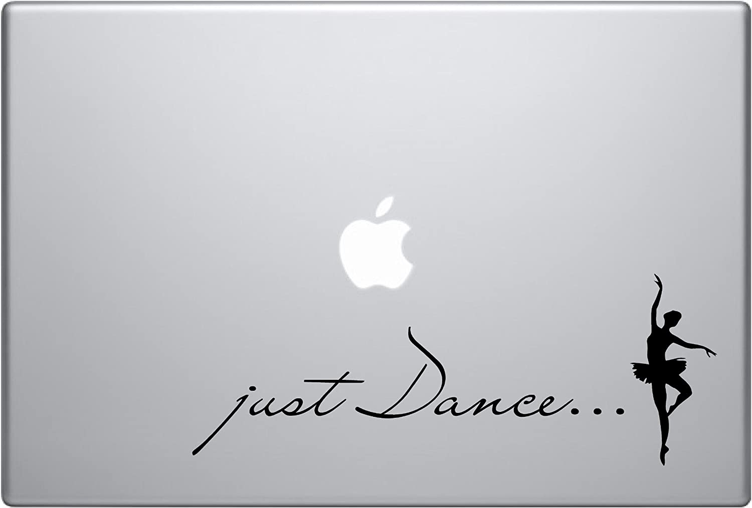 Just Dance Text Ballerina Dancing Life Is Beautiful Black Symbol Iphone Silhouette Decal Humor Macbook Symbol Iphone Disney Apple Ipad Decal Skin Sticker Laptop