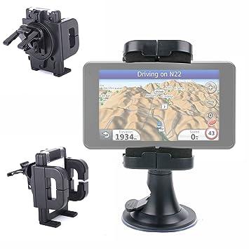 DURAGADGET Soporte Para Parabrisas De Coche Con Abrazadera Ajustable Para Navegador GPS Garmin Edge 810