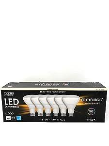 Feit 65W Equivalent Soft White BR30 Dimmable Enhance LED Light Bulb (6-Pack)