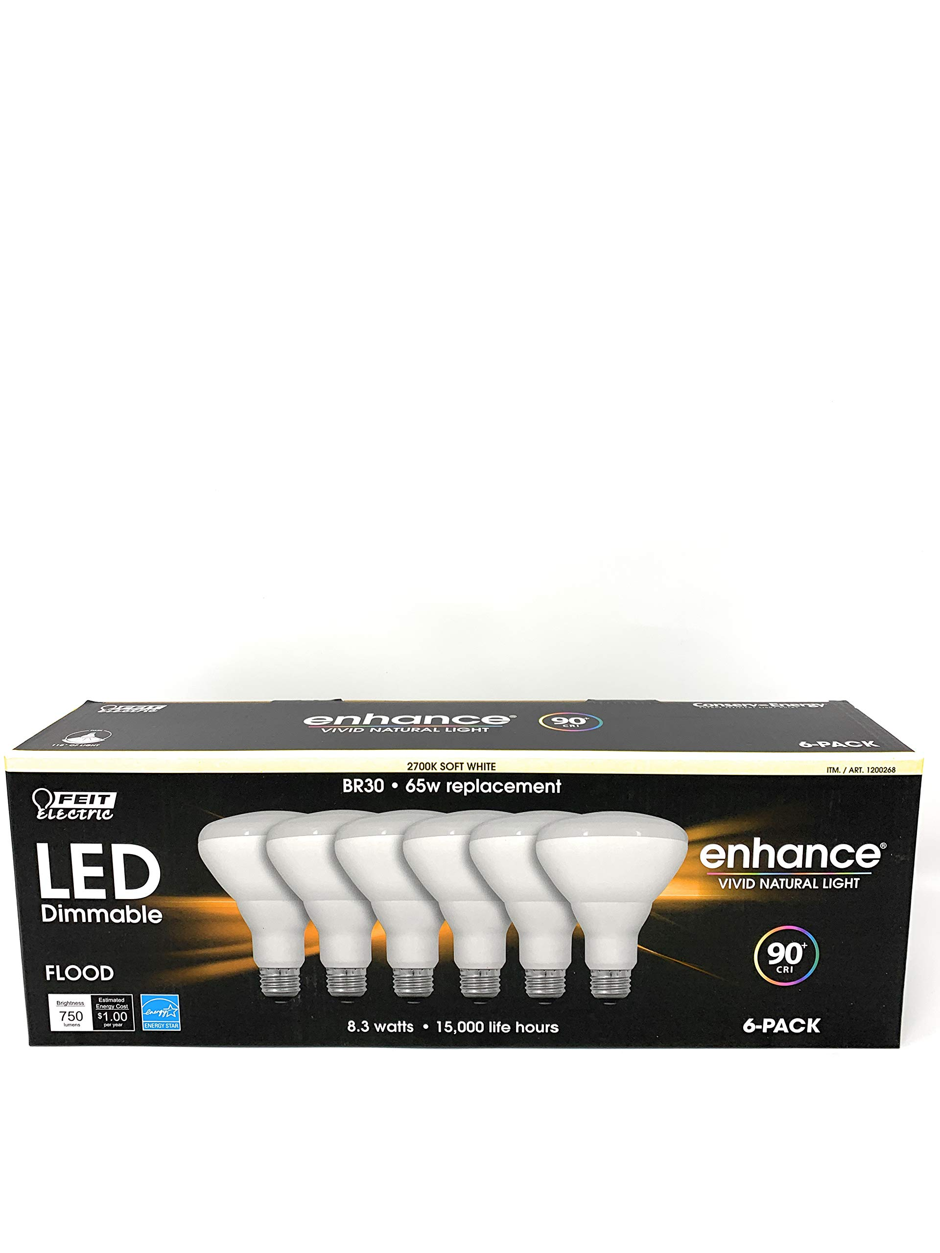 Warm White 65W Equivalent Pack of 10 Medium Base Bulbrite 773355 LED11BR30//827//D//2 11 Watt Dimmable LED BR30 Reflector Bulb