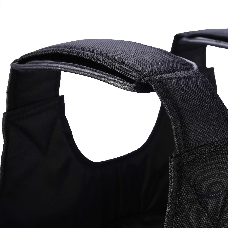 Vobor Chaleco Cargado-Ejercicio de Entrenamiento Fitne 20KG Carga m/áxima Ajustable Entrenamiento Chaleco Cargado con Peso