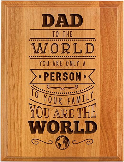 Geometric Carved Best Dad Ever Father Family Gift Wooden Key Chain Key Holder