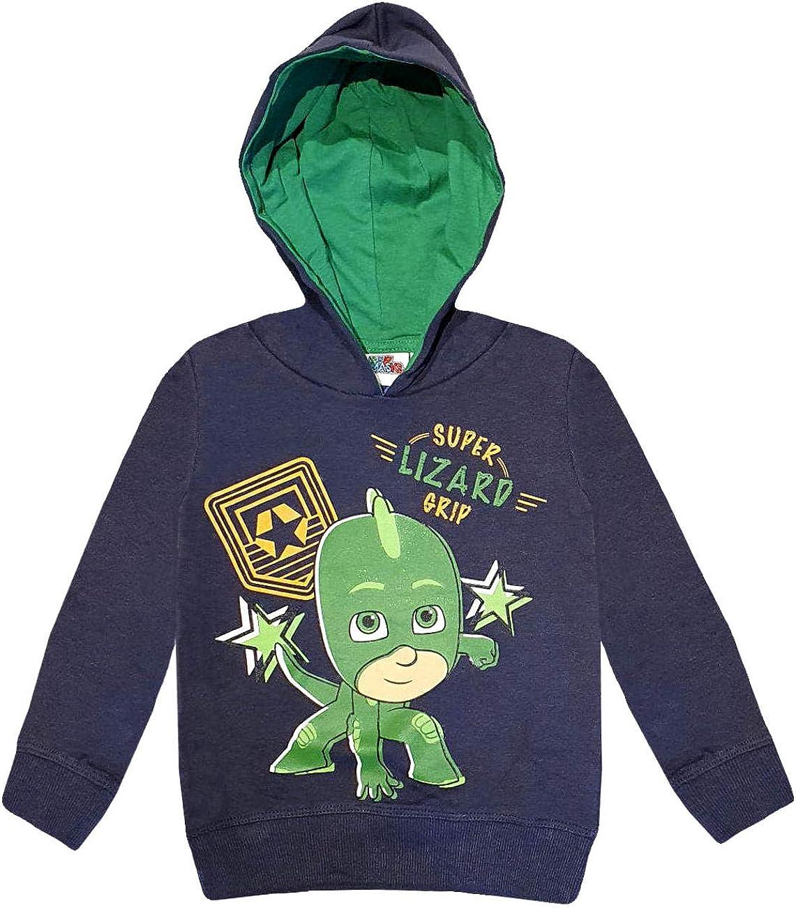 PJ Masks Boys (2-8) Hoodie Sweatshirt Gekko Super Lizard Grip ...