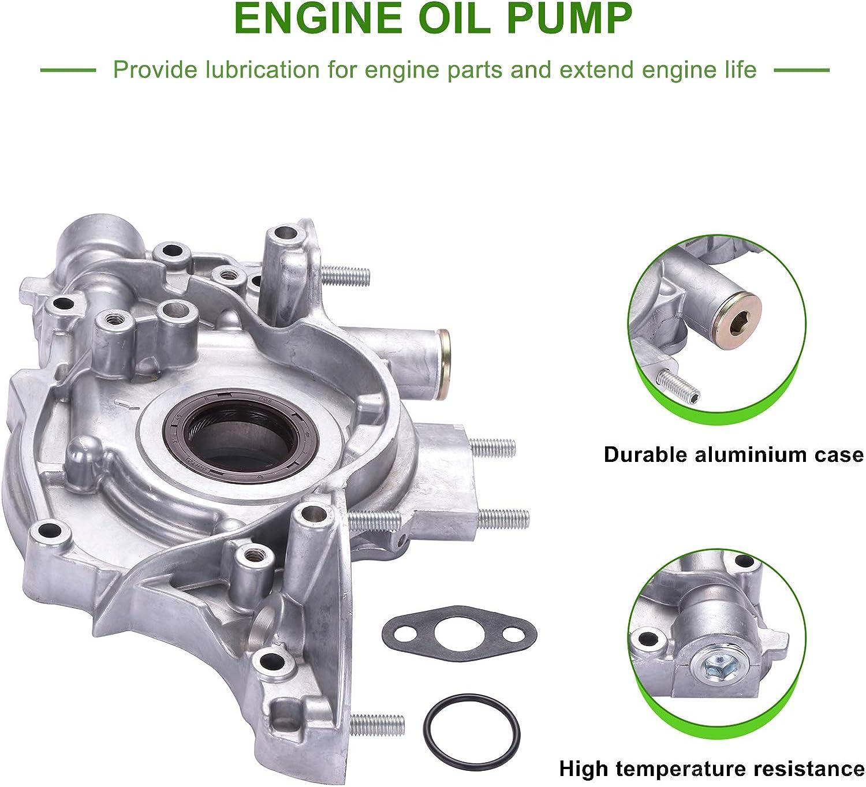 ECCPP Engine Oil Pump Fit for 1996-2000 Honda Civic 1996-1997 Honda Civic Del Sol Compatible for M383 OPH30 Pump