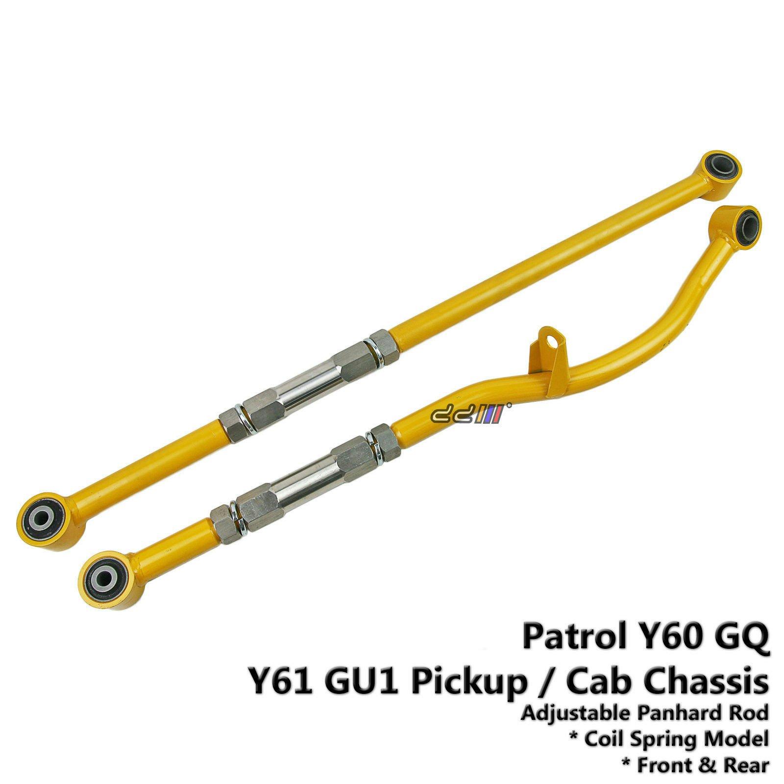 Front+Rear Adjustable Panhard Rod Bar For Nissan Patrol GQ GU1 Y60 Y61 Lift 2-4''