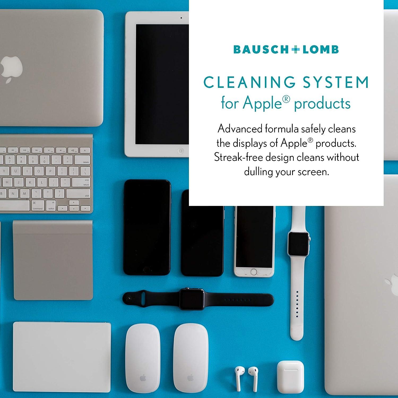 Sistema de limpieza para productos Apple Clens Bausch y Lomb