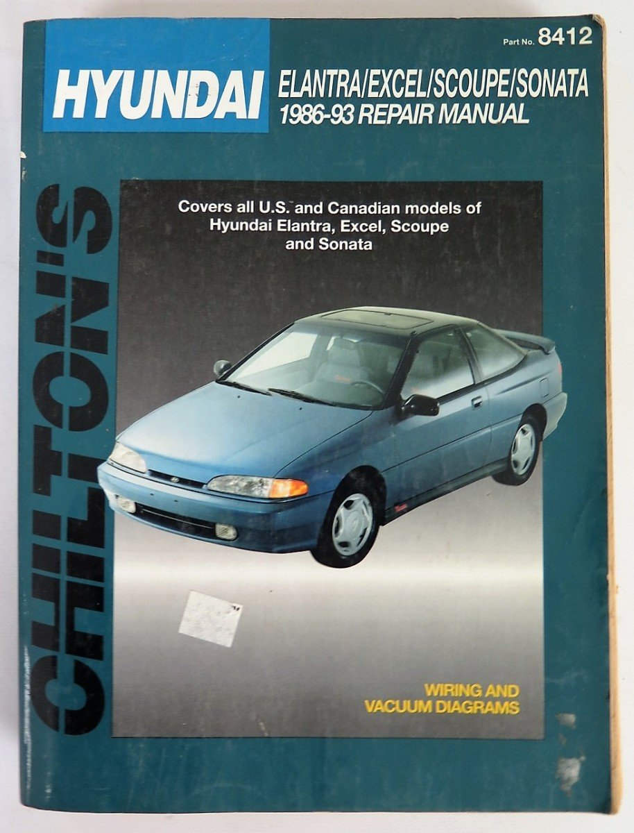 chilton repair manual hyundai elantra excel scoupe sonata 1986 93 rh amazon com 1991 Hyundai Scoupe 1992 Hyundai Scoupe