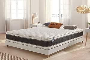 Naturalex | Luxe Memory | Colchón 135x190 Cm Viscoelástico con los Mejores Núcleos Transpirables | Gel-Fresh con Plus de Firmeza Progresiva | 7 Zonas ...
