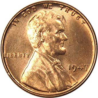 1947 D BU Wheat Cent Roll Lincoln OBW 50c Mint Penny Pennies 50 Coins Old US
