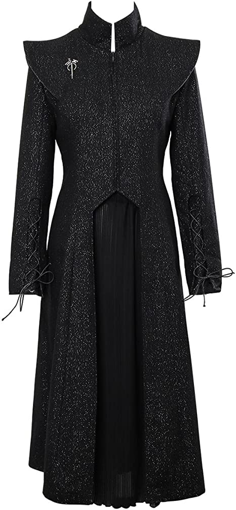 Nofonda Vestido Negro Brillante de Daenerys Disfraz de Reina ...