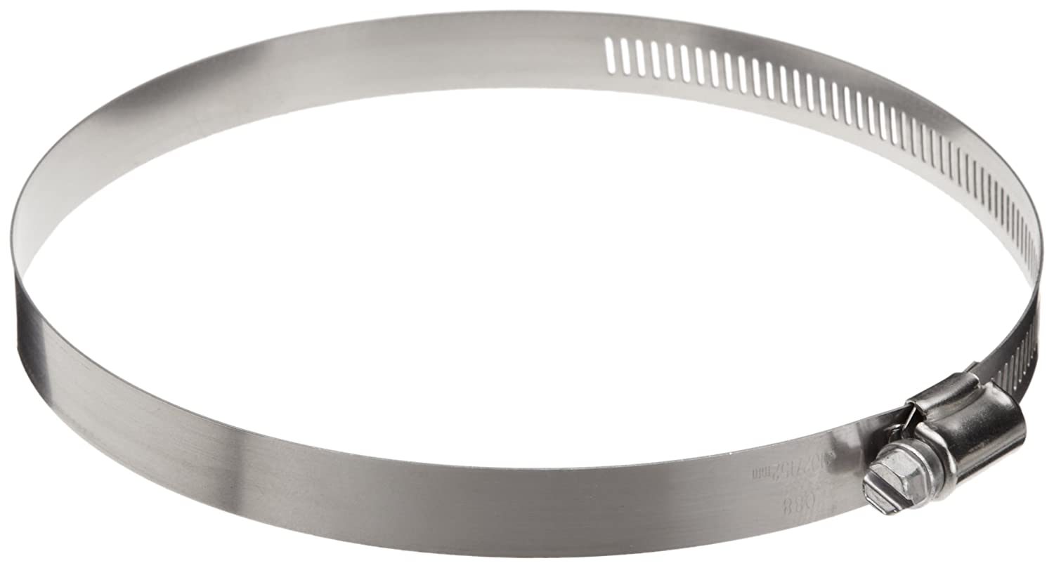 Pack of 10 Precision Brand HD88H 9//16 Band Heavy Duty 3-Piece Partial Stainless Worm Gear Hose Clamp 4-6