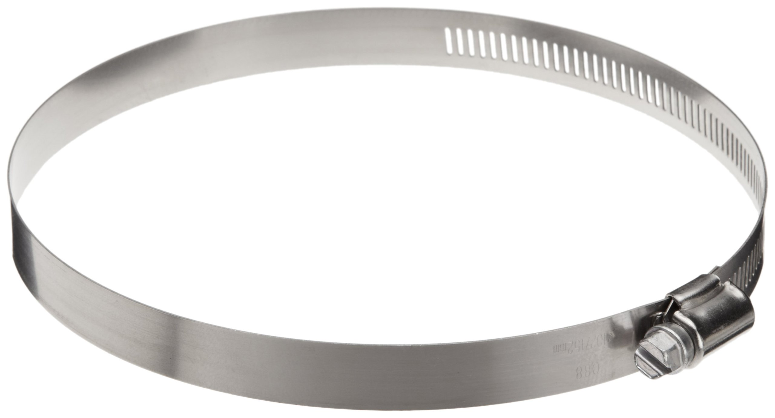 Precision Brand HD88H 9/16'' Band, Heavy Duty 3-Piece Partial Stainless Worm Gear Hose Clamp 4'' - 6'' (Pack of 10)