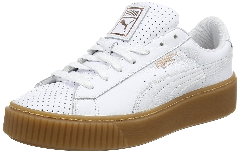 Puma Basket Platform Perf L, Zapatillas para Mujer 36 EU|Blanco (White-copper Rose)