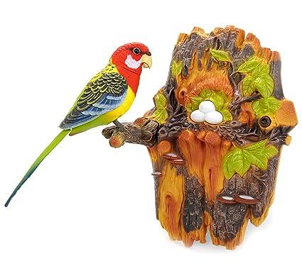 amazon com powertrc chirping dancing bird with noise sensor