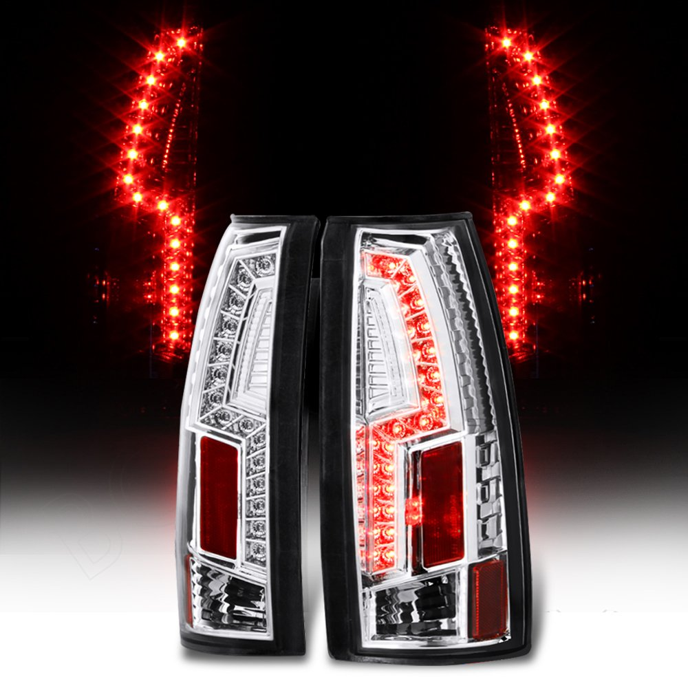 Chevy Tahoe Gmc Yukon 1500 2500 3500 Led Tail Light Rear Wiring Diagram For 1998 Blazer Lift Gate Brake Lamps Pair Chrome Automotive