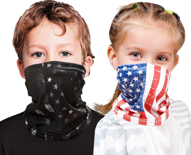 Kids Face Mask Neck Gaiter Cooling Kids Face Scarf Mask Boy Girl Balaclava