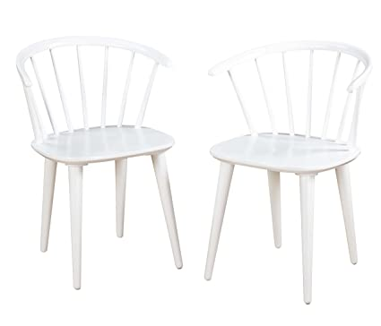 Target Marketing Systems Set Of 2 Florence Dining Chairs With Low Windsor  Spindle Back, Set