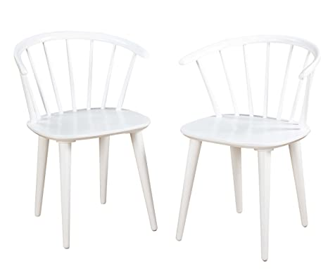 Astounding Target Marketing Systems Set Of 2 Florence Dining Chairs With Low Windsor Spindle Back Set Of 2 White Gamerscity Chair Design For Home Gamerscityorg