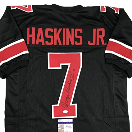 best service 979de 90699 Autographed/Signed Dwayne Haskins Jr. Ohio State Black ...