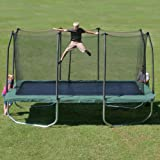 Summit 14u0027 Rectangle Trampoline With Safety Enclosure