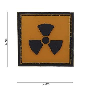 Tactical Attack Radioaktiv Softair Sniper PVC Patch Logo Klett inkl gegenseite zum aufn/ähen Paintball Airsoft Abzeichen Fun Outdoor Freizeit