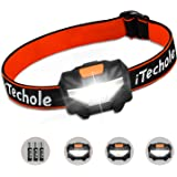LED Head Torch, iTechole Kids Headlamp with Super Bright 150 Lumens, 3 Modes, Energy Saving COB LED Headlight for Children, Running, Walking, Camping, Hiking, DIY & More, (AAA Batteries Included)