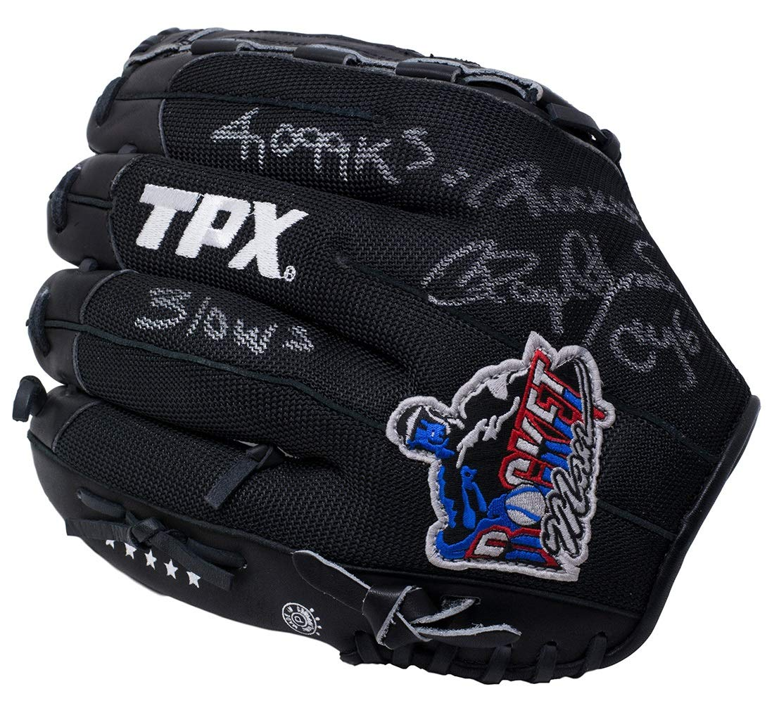 Roger Clemens Twice Signed TPX Baseball Glove 4 Inscriptions JSA