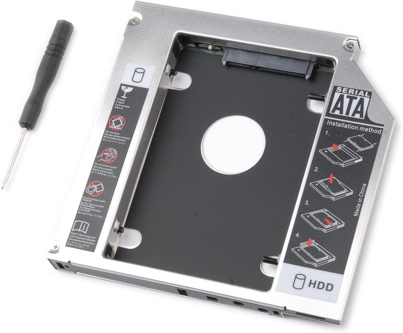 tinxi® Segundo HDD Caddy 2.HDD/SSD Caddy Adaptador SATA Disco Duro ...