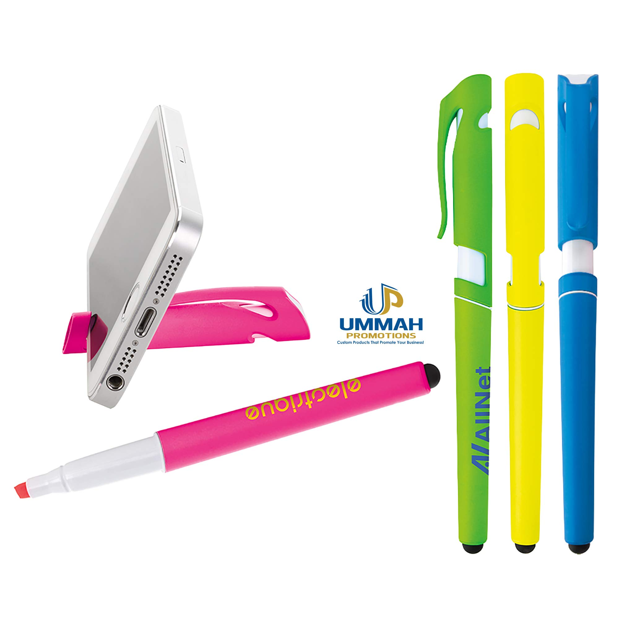 250 Personalized Multi Tech Highlighter Printed with Your Company/School Logo or Message by Ummah Promotions (Image #1)