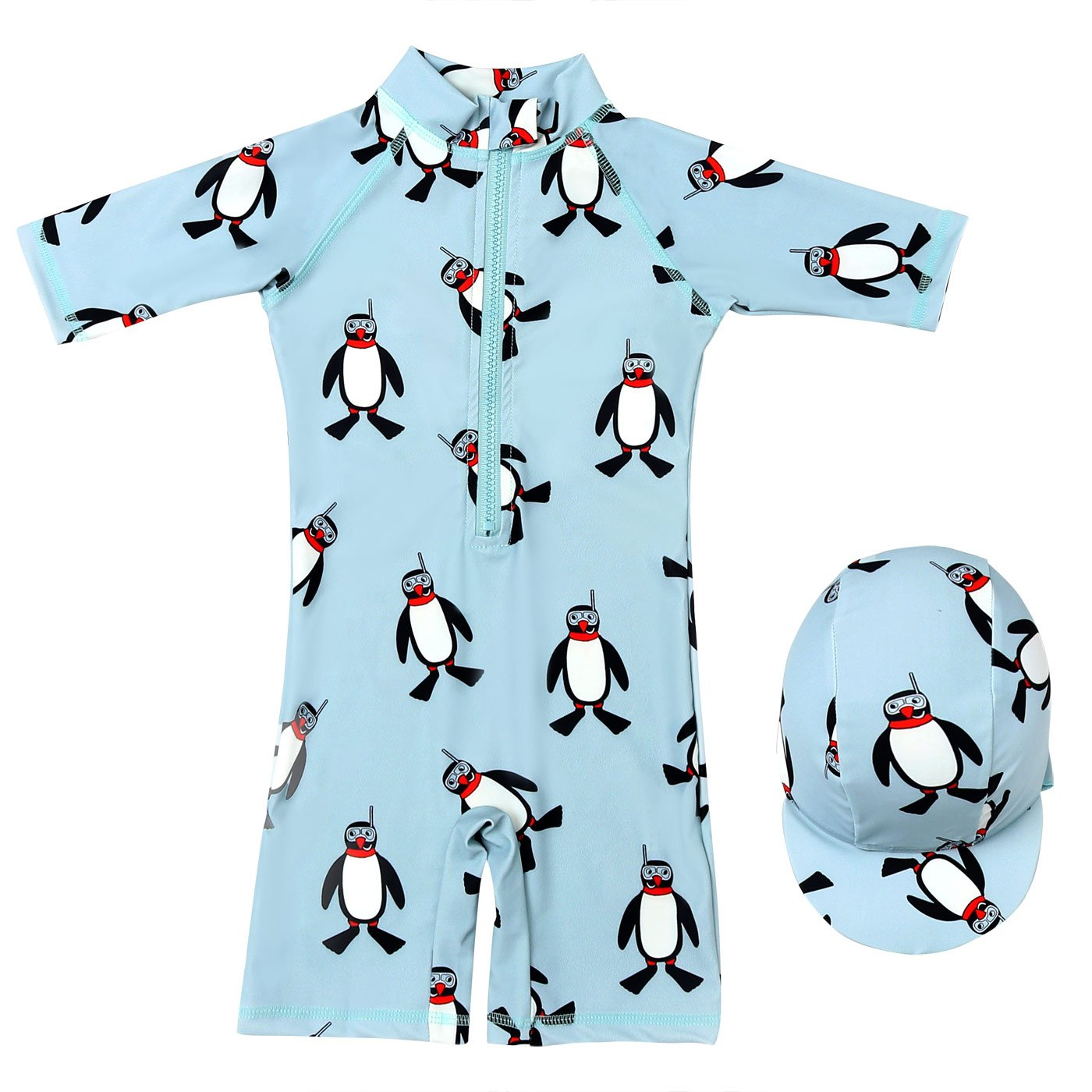 Aivtalk Baby Boys Rash Guard Swimsuit Sun Protection 3/4 Sleeve One Piece Swimwear
