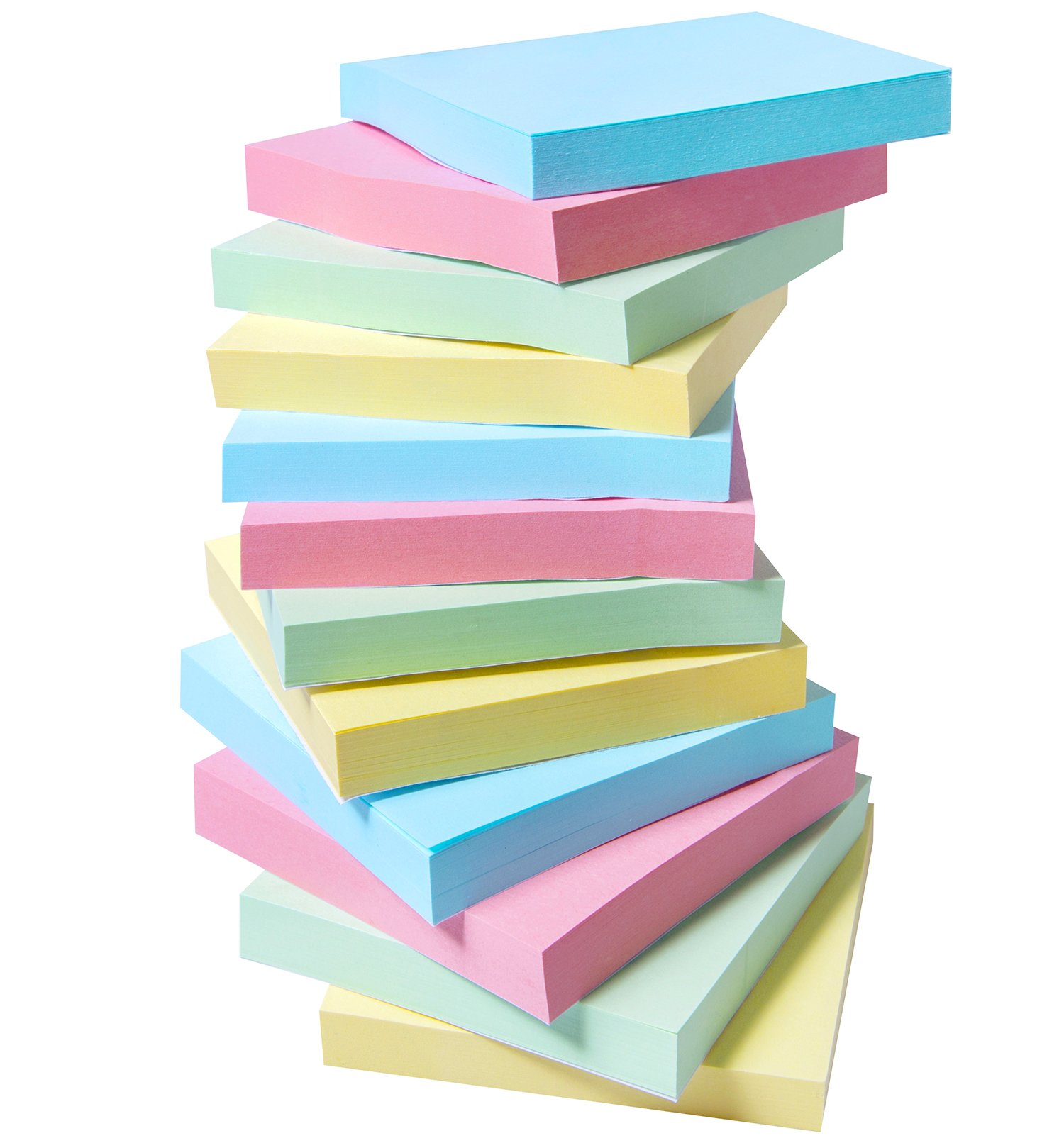 12 Pads Sticky Notes, 3x3 Inch Self-Stick Notes, 100 Sheets Per Pad, Colored Adhesive Notes with 4 Bright Color for Home,School,Office