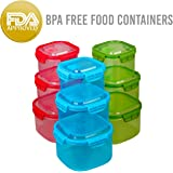 Amazix 18 Piece Food Containers Set, Air Tight Sealed, High Capacity, Total BPA free FDA Approved, Un-Leakage & safe For Microwave, Dishwasher & Freezer (Red, Green & Blue - Square Shaped)