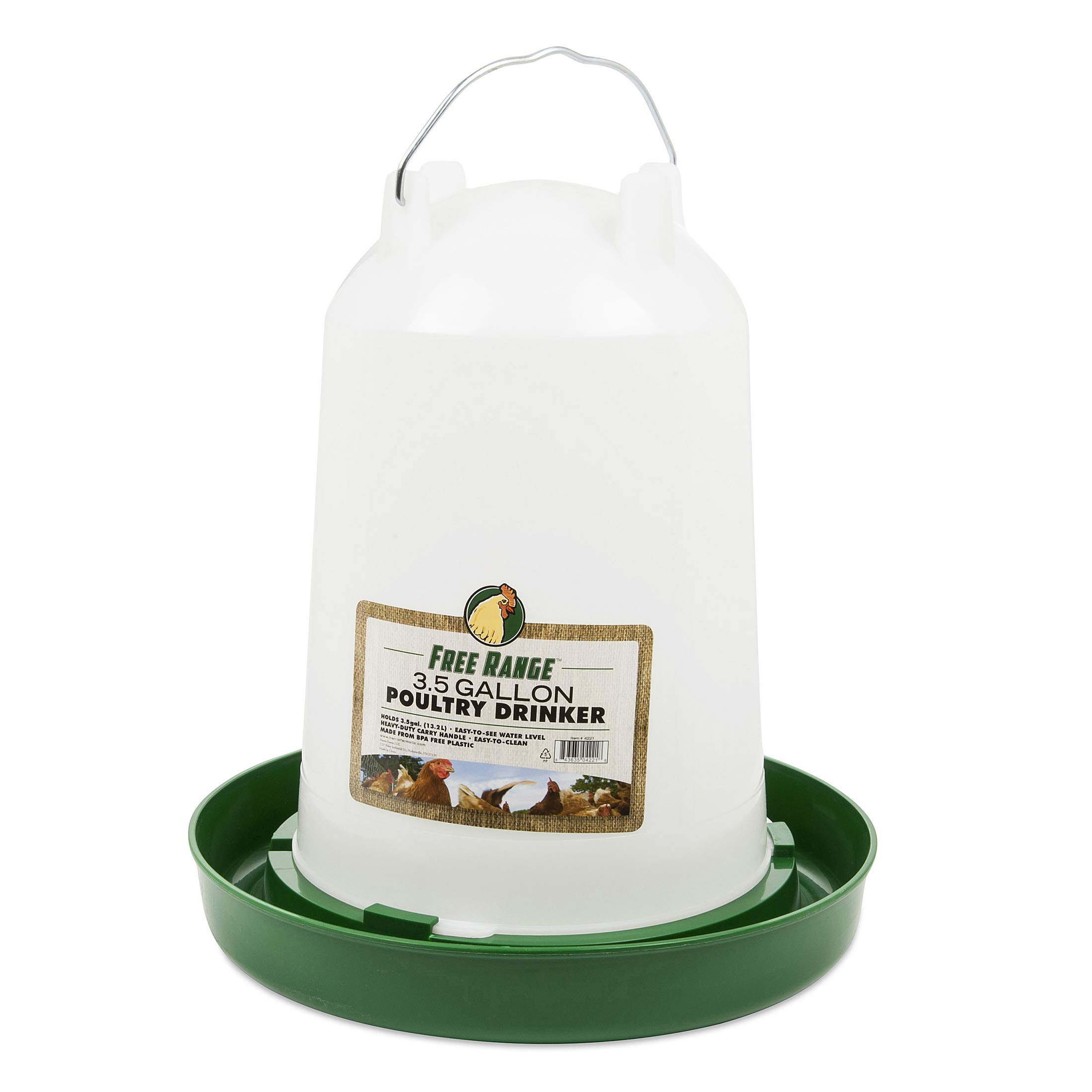 Harris Farms Hanging Poultry Drinker, 3.5 Gallon by Harris Farms