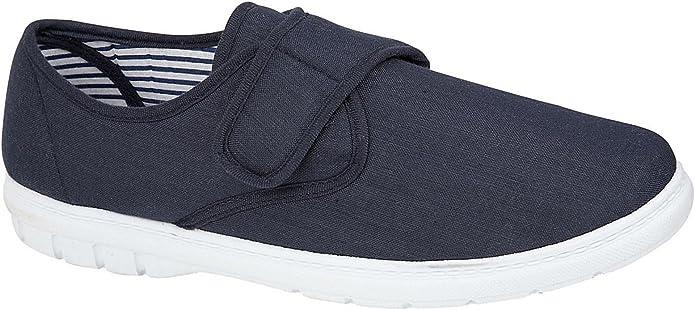 Zapatos de lona Kevin para hombre, ajuste más amplio, estilo casual, zapatos de lona para entrenamiento, talla 6-12