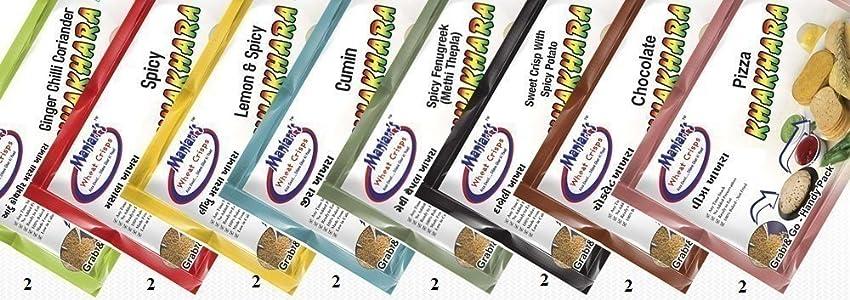 maniarrs Khakhra Combo (8 Flavors In 16 Packs) 720 Grams