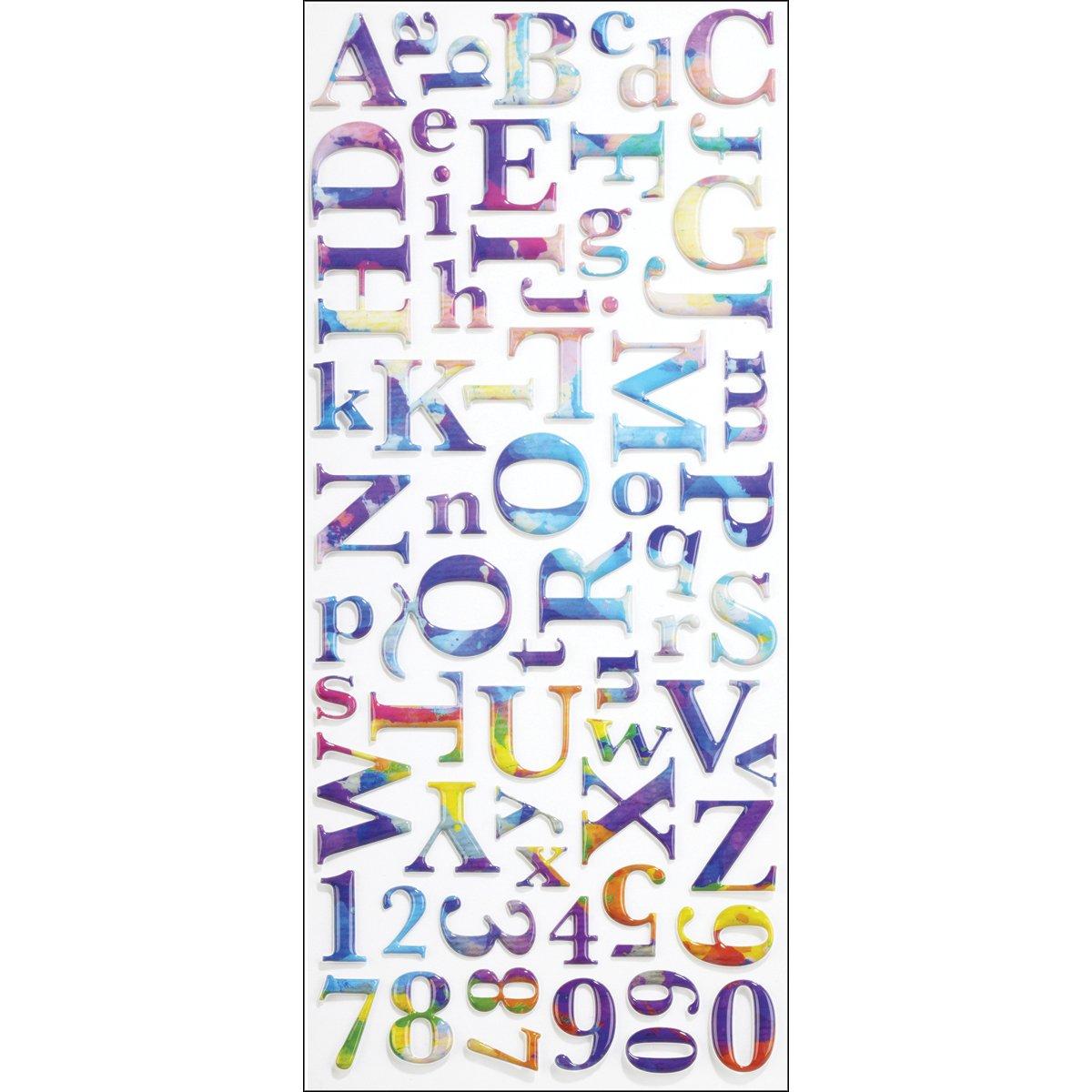 Sticko Alphabet Stickers, Watercolor