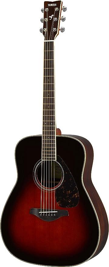bf4d638ad4 Amazon.com: Yamaha FG830 Solid Top Acoustic Guitar, Tobacco Sunburst ...