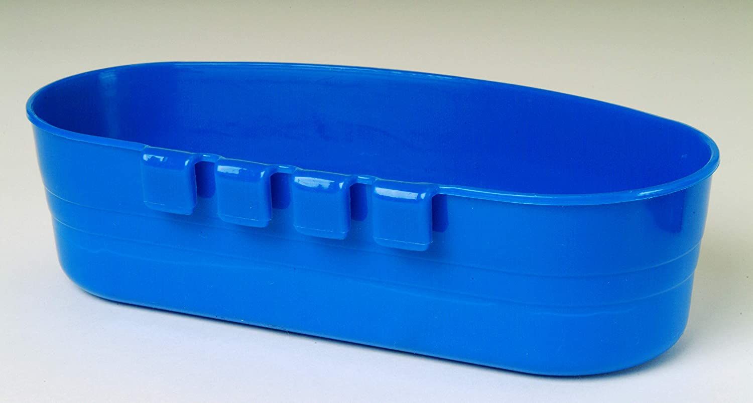 Mountable Feeding /& Watering Bowl for Small Animals /& Poultry Durable Item No. ACU4BLUE 1 Quart Pet Lodge Plastic Cage Cup Blue