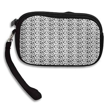 Amazon.com: Carteras pequeñas negras y blancas con diseño de ...