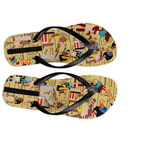 b7cff6b3f6f7 Amazon.com  flip flops Female Flat Women Slippers Shoes African Tribe Print  Fashion Slides Ladies Thong Sandals Summer  Sports   Outdoors
